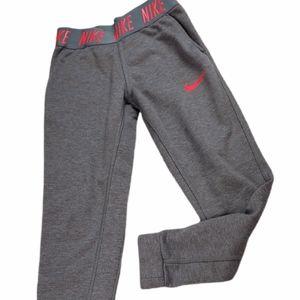 Nike Girls Gray & Orange Joggers